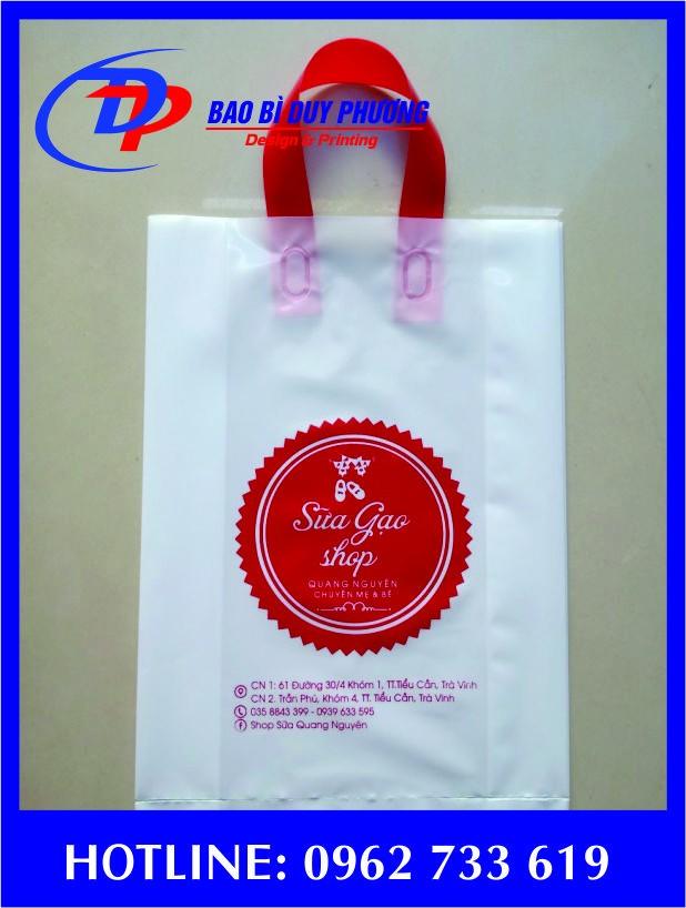 Túi nilong ép quai giá rẻ hcm
